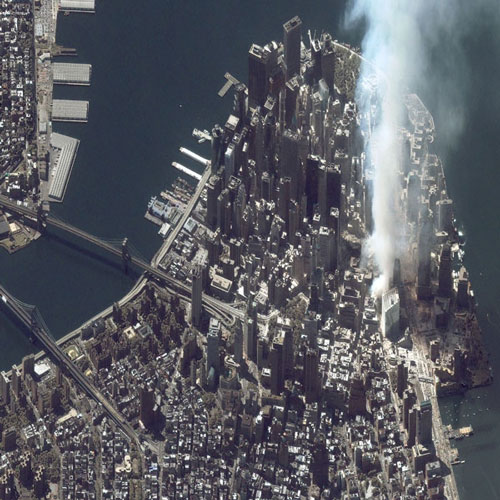 9/11 attack as seen from space