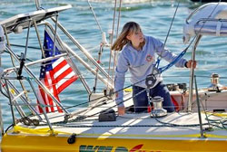Abby Sunderland sails around the world