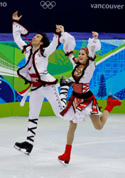 Ice dancers Ben Agosto and Taneth Belbin