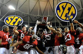 #2 Alabama beats #1 Florida to win the SEC