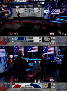 CNN magic wall and holograms