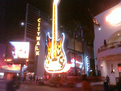 Universal Citywalk - scene of the last date of Chickenfoot's inaugural tour...