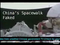 China's spacewalk faked?