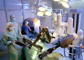 the DaVinci surgical robot