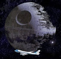 Death Star bailout (note Air Force one :)