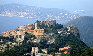 vista: Eze and Cap Ferrat