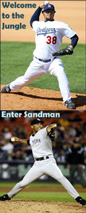 Eric Gagne - Welcome to the Jungle - Mariano Rivera - Enter Sandman