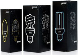 Gauss light bulbs - an example of cool packaging