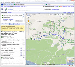 Google Maps - now with 'bicycling' directions, including bike lanes