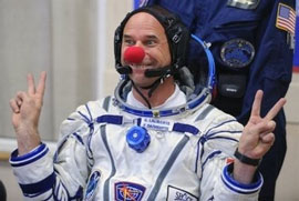 Guy Laliberte - Cirque du Soleil founder is first clown in space
