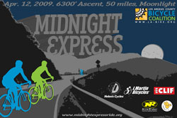 Midnight express ride: 50 miles and 6,300', at midnight!