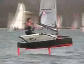 Moths hydrofoiling - way cool!
