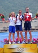 Olympic time trial women's podium