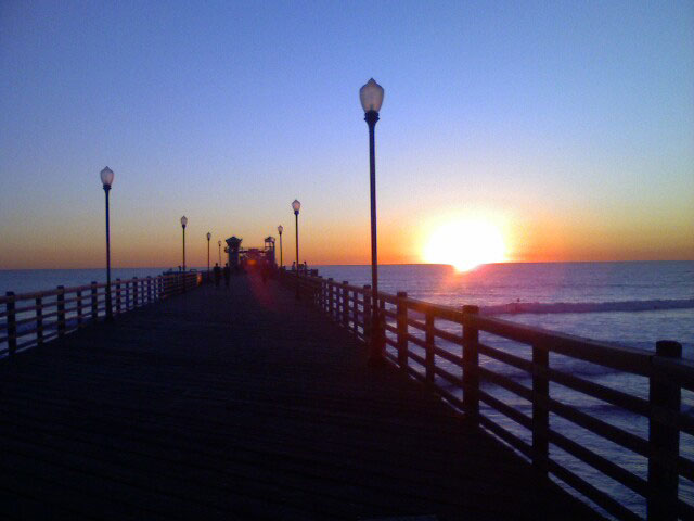 perfect day: the Oceanside pier at sunset