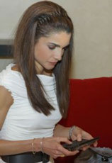 Queen Rania of Jordan tweets!