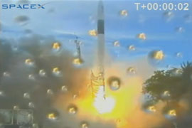 SpaceX launches satellite into orbit!