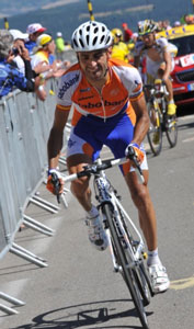 TDF 09 stage 20 - Juan Manual Garate wins up Mont Ventoux after riding in a break all day!