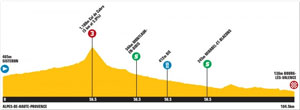 TDF stage 11 profile - field sprint!