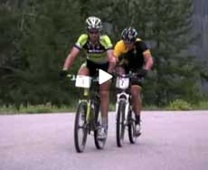 Dave Wiens leads Lance Armstrong in the Leadville 100