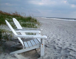 Adirondack chairs on the beach - what could be better?