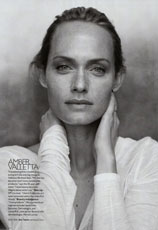 supermodel Amber Valletta without makeup - beauty is deeper than makeup, apparently