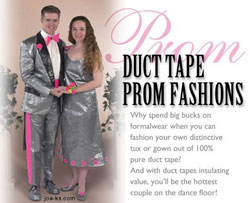 duct tape prom fashions!