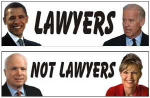 election 08: lawyers vs not lawyers