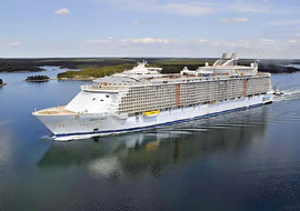 biggest cruise ship: Oasis of the Sea