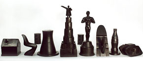 """history"" chess set from Boym Design"