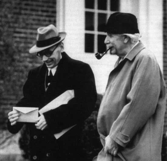 Albert Einstein and Kurt Godel