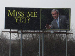 """miss me yet?"" billboard"