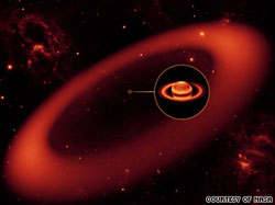 Scientists discover massive ring around Saturn