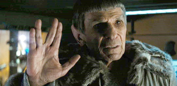 the original Spock says live long and prosper - to himself