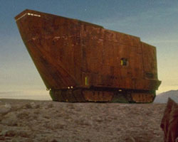 Sandcrawler on Tatooine