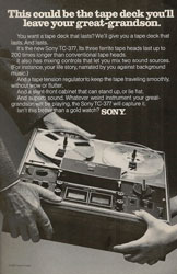 classic 1973 Sony ad for reel-to-real tape deck