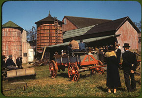 farm auction, 1940