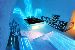 Tron ice hotel in sweden