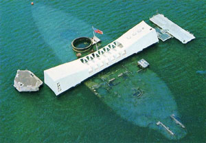 U.S.S.Arizona memorial in Pearl Harbor