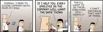 Dilbert: the iPad dilemma