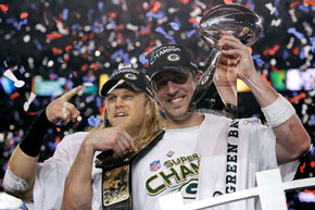 Green Bay wins: Clay Mathews and Aaron Rodgers