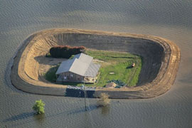 single home protection levees