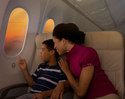 Boeing 787 windows - 65% larger, and with adjustable dimmers