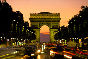 Paris: le Arc de Triomphe