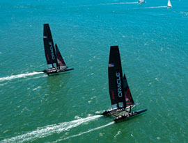AC45s showcase high tech sailboat technology
