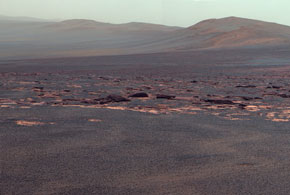 Opportunity reaches crater after 3-year trek