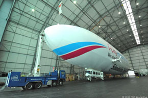 "new Zeppelin rolls off the ""assembly line"" :)"