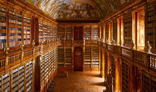 Strahov Abbey library, in Prague