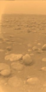 Titan surface shot from Huygens