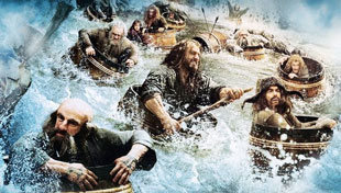 The Hobbit / Desolation of Smaug: Dwarves in Barrels!