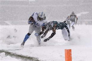 snow football ... in Philly